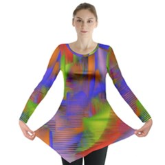 Texture Pattern Programming Processing Long Sleeve Tunic