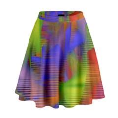 Texture Pattern Programming Processing High Waist Skirt