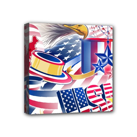 United States Of America Usa  Images Independence Day Mini Canvas 4  X 4