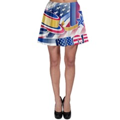 United States Of America Usa  Images Independence Day Skater Skirt
