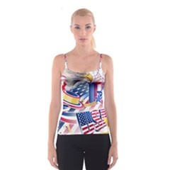 United States Of America Usa  Images Independence Day Spaghetti Strap Top