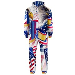 United States Of America Usa  Images Independence Day Hooded Jumpsuit (Men)