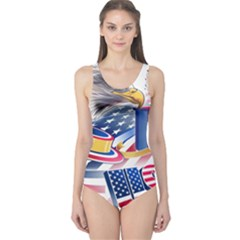 United States Of America Usa  Images Independence Day One Piece Swimsuit