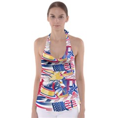 United States Of America Usa  Images Independence Day Babydoll Tankini Top