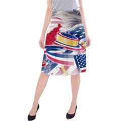 United States Of America Usa  Images Independence Day Midi Beach Skirt