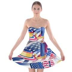 United States Of America Usa  Images Independence Day Strapless Bra Top Dress