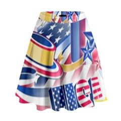 United States Of America Usa  Images Independence Day High Waist Skirt