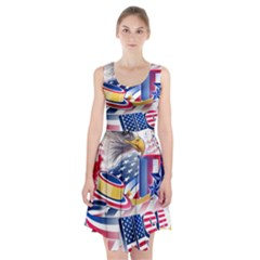 United States Of America Usa  Images Independence Day Racerback Midi Dress