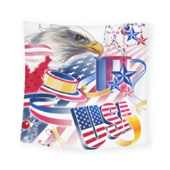 United States Of America Usa  Images Independence Day Square Tapestry (small)