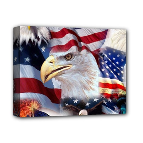 United States Of America Images Independence Day Deluxe Canvas 14  x 11