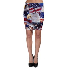 United States Of America Images Independence Day Bodycon Skirt