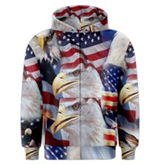 United States Of America Images Independence Day Men s Zipper Hoodie