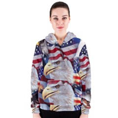 United States Of America Images Independence Day Women s Zipper Hoodie