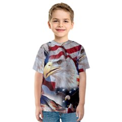 United States Of America Images Independence Day Kids  Sport Mesh Tee