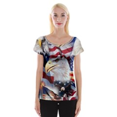United States Of America Images Independence Day Women s Cap Sleeve Top