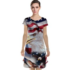 United States Of America Images Independence Day Cap Sleeve Nightdress