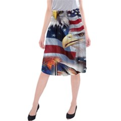 United States Of America Images Independence Day Midi Beach Skirt