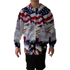 United States Of America Images Independence Day Hooded Wind Breaker (Kids)