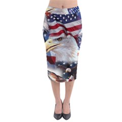United States Of America Images Independence Day Midi Pencil Skirt