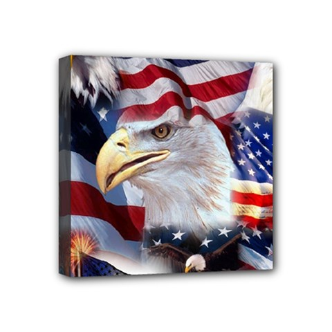 United States Of America Images Independence Day Mini Canvas 4  x 4