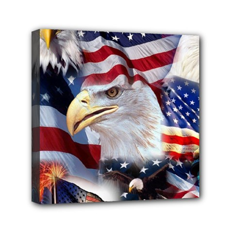United States Of America Images Independence Day Mini Canvas 6  x 6