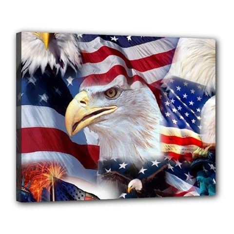 United States Of America Images Independence Day Canvas 20  x 16