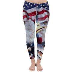 United States Of America Images Independence Day Classic Winter Leggings