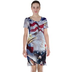 United States Of America Images Independence Day Short Sleeve Nightdress
