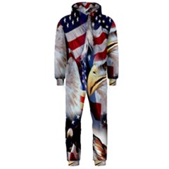 United States Of America Images Independence Day Hooded Jumpsuit (Men)