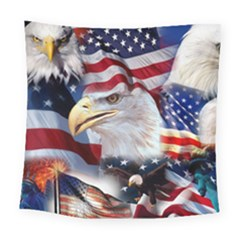 United States Of America Images Independence Day Square Tapestry (Large)