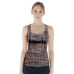 Unique Pattern Racer Back Sports Top