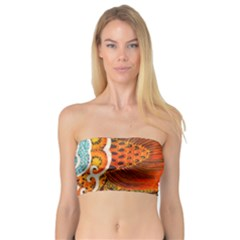 The Beautiful Of Art Indonesian Batik Pattern Bandeau Top