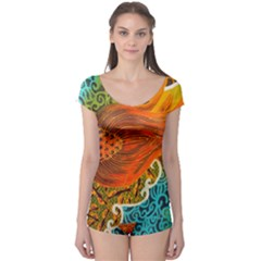The Beautiful Of Art Indonesian Batik Pattern Boyleg Leotard