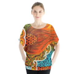 The Beautiful Of Art Indonesian Batik Pattern Blouse