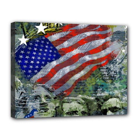 Usa United States Of America Images Independence Day Canvas 14  X 11