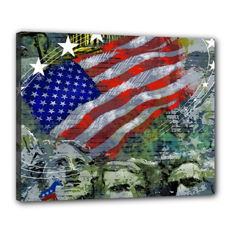 Usa United States Of America Images Independence Day Canvas 20  x 16