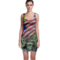 Usa United States Of America Images Independence Day Sleeveless Bodycon Dress