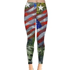 Usa United States Of America Images Independence Day Leggings