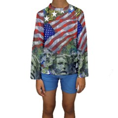 Usa United States Of America Images Independence Day Kids  Long Sleeve Swimwear
