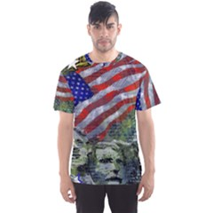 Usa United States Of America Images Independence Day Men s Sport Mesh Tee