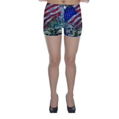Usa United States Of America Images Independence Day Skinny Shorts