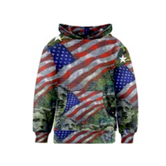 Usa United States Of America Images Independence Day Kids  Pullover Hoodie