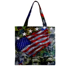 Usa United States Of America Images Independence Day Zipper Grocery Tote Bag