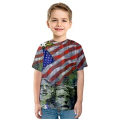 Usa United States Of America Images Independence Day Kids  Sport Mesh Tee