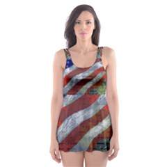 Usa United States Of America Images Independence Day Skater Dress Swimsuit