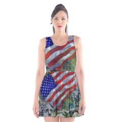 Usa United States Of America Images Independence Day Scoop Neck Skater Dress