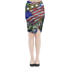 Usa United States Of America Images Independence Day Midi Wrap Pencil Skirt