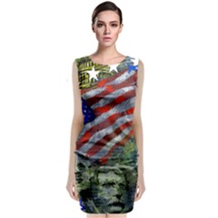 Usa United States Of America Images Independence Day Sleeveless Velvet Midi Dress