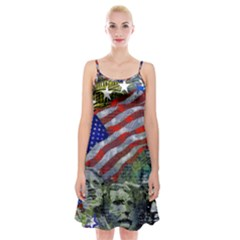 Usa United States Of America Images Independence Day Spaghetti Strap Velvet Dress