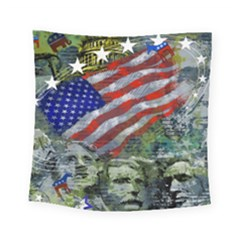 Usa United States Of America Images Independence Day Square Tapestry (small)